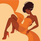 Sexy black woman.