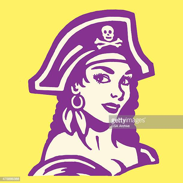 sexy female pirate - chest torso stock illustrations, clip art, cartoons, & icons