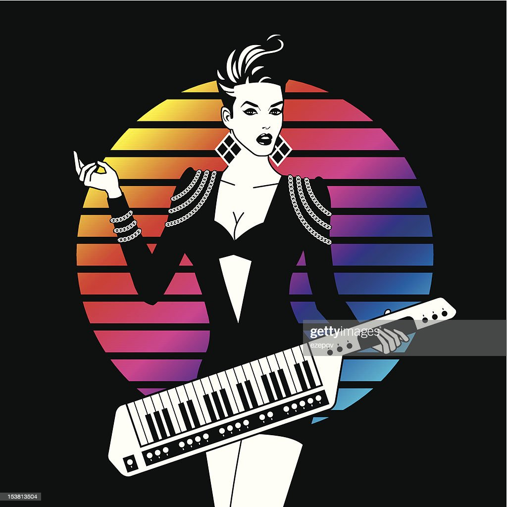 Sexy Girl With Keytar