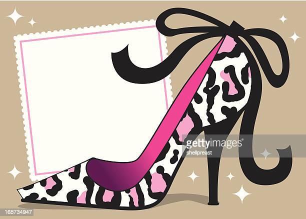 ilustraciones, imágenes clip art, dibujos animados e iconos de stock de sexy leopardo fondo tacón de aguja - tacones altos
