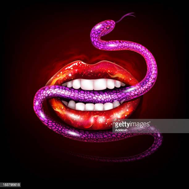 Sexy Lips with Snake