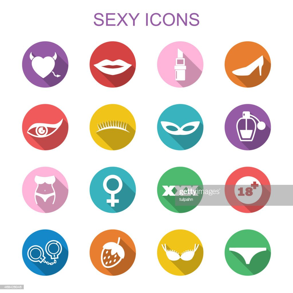 sexy long shadow icons