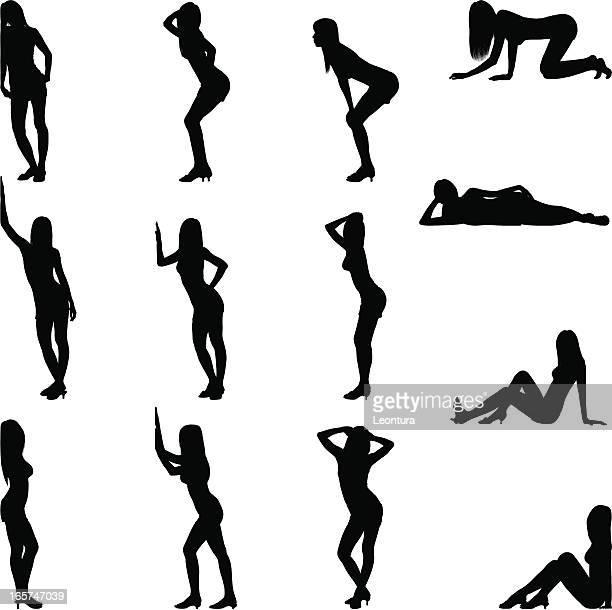 ilustrações, clipart, desenhos animados e ícones de pose sexy - mulher sensual