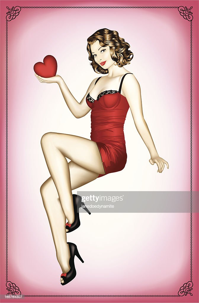 Sexy Valentine's Pin Up