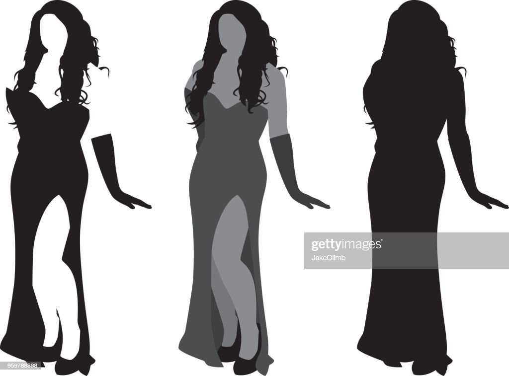 Sexy Frau Silhouette : Stock-Illustration