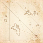 Seychelles map in retro vintage style - old textured paper