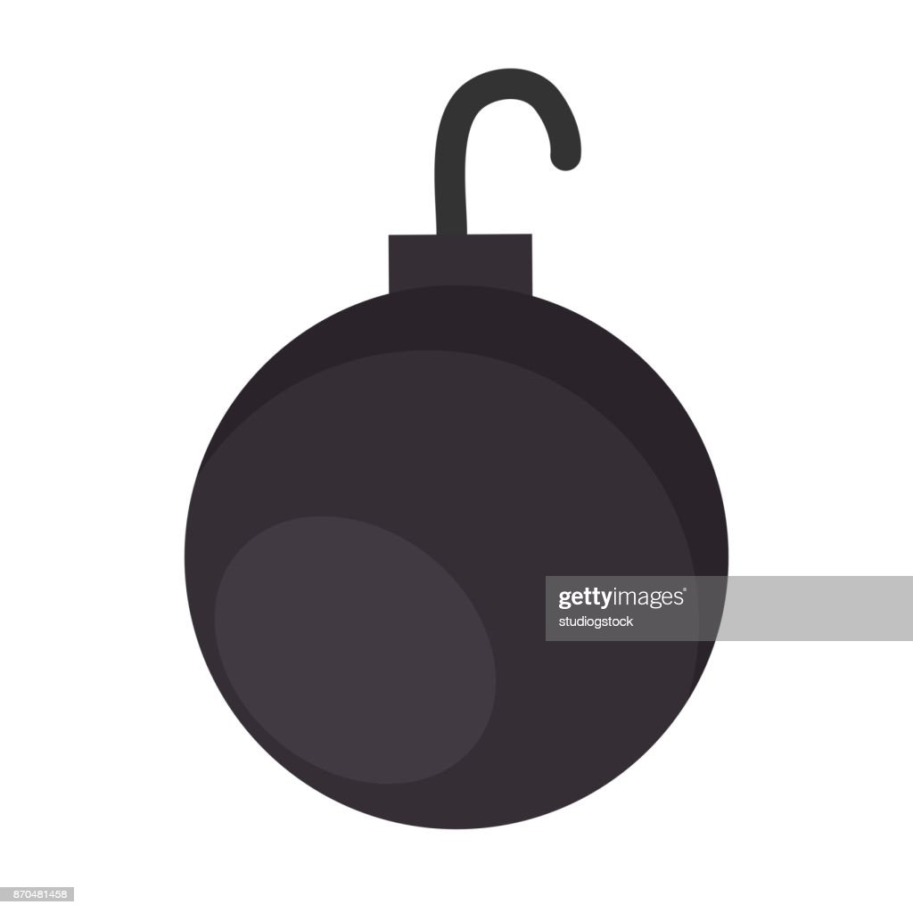 shackle ball isolated icon