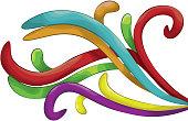 Shaded Swirl shape background