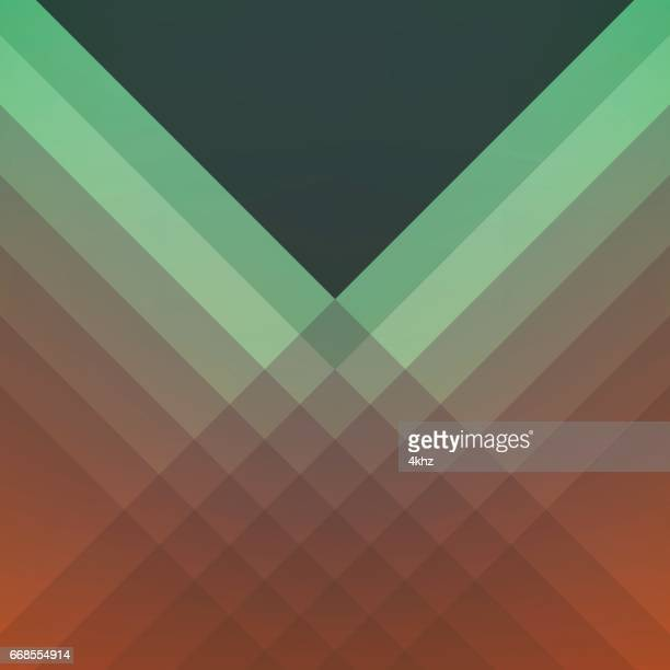 Shades Of Green And Orange Modern Vector Abstract Background