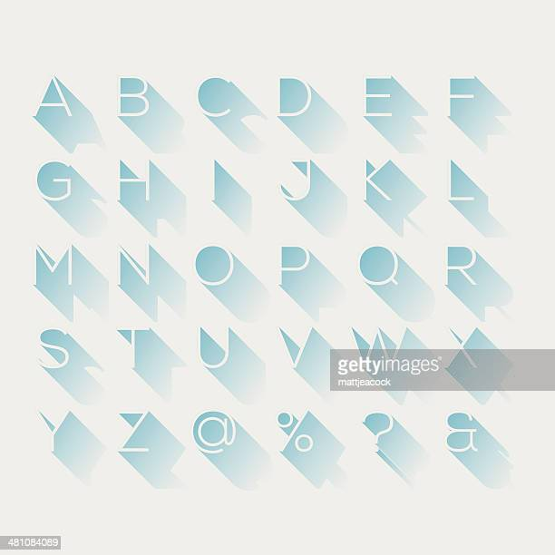 shadow alphabet - alphabet stock illustrations