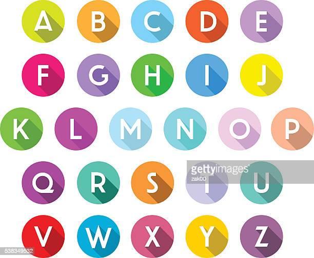 シャドーアルファベット - アルファベット点のイラスト素材/クリップアート素材/マンガ素材/アイコン素材