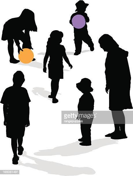 ilustrações de stock, clip art, desenhos animados e ícones de sombra de crianças - nicho
