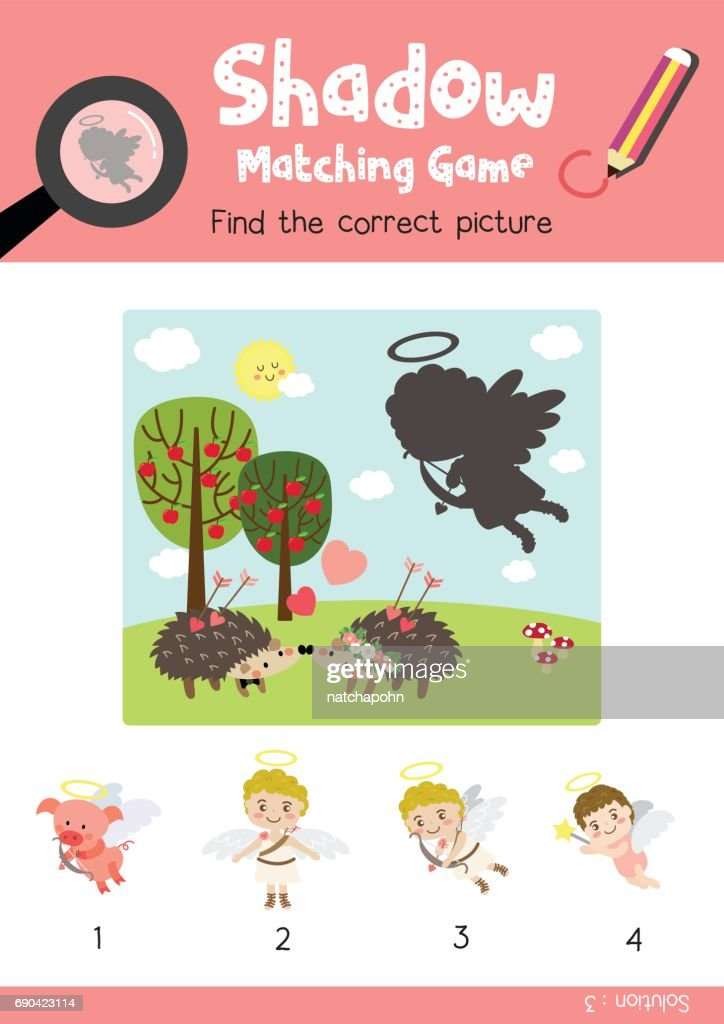 Shadow matching game marine life 1