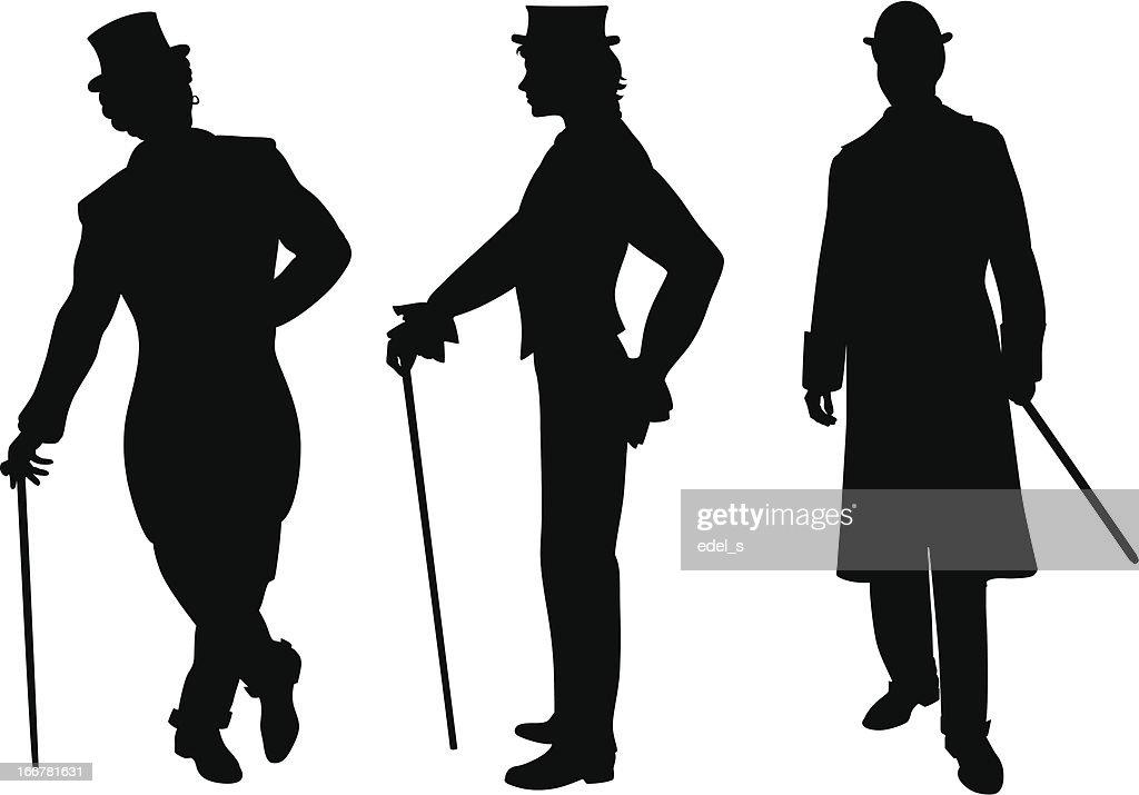 Shadow of three men