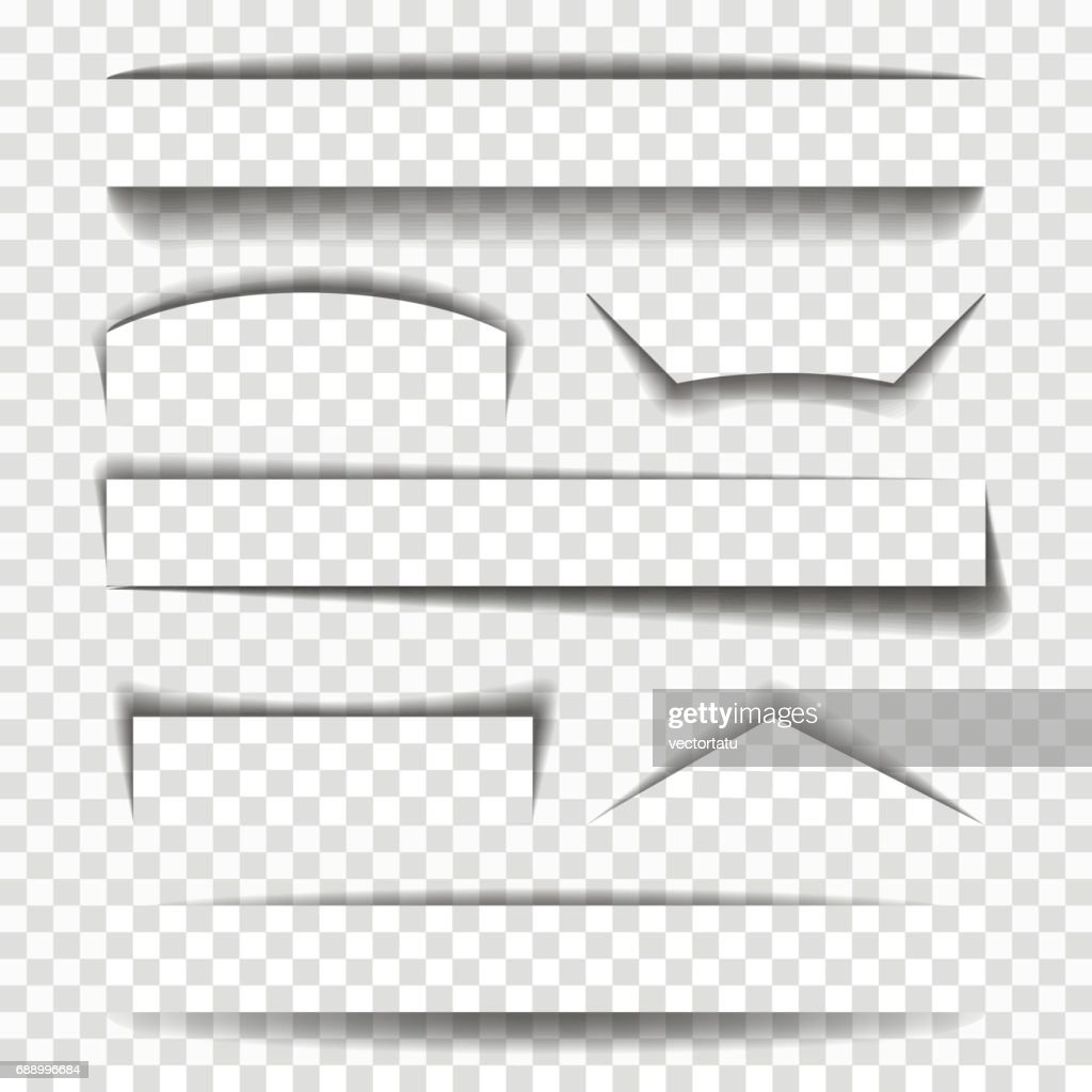 Shadow vector elements for pages