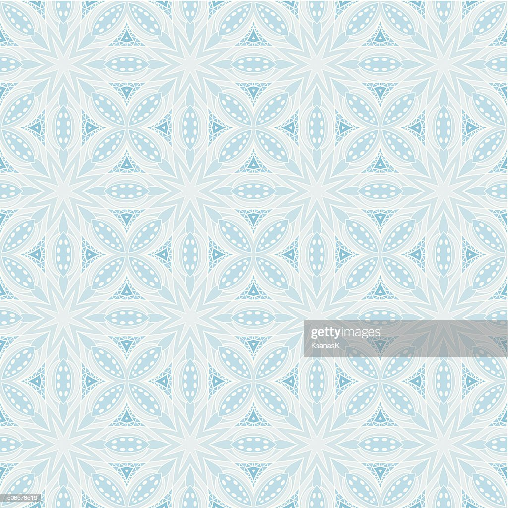 Shadows Of Blue Seamless Pattern : Vector Art