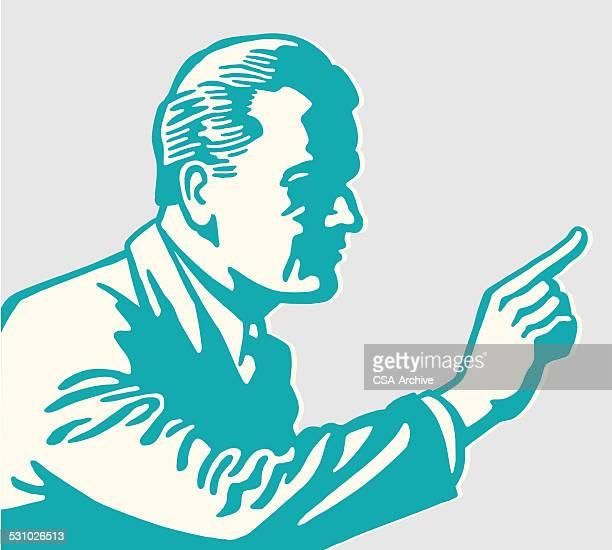 Shadowy Man Pointing