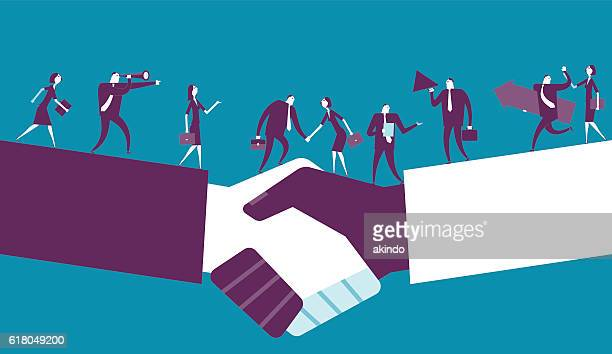 shake hand - partnership teamwork stock illustrations