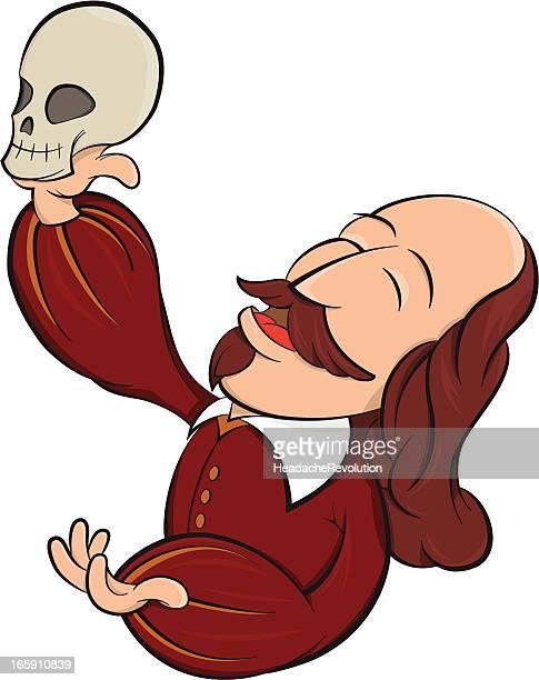shakespearean play - cartoon - william shakespeare stock illustrations, clip art, cartoons, & icons