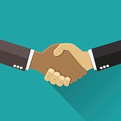 Shaking hands business vector illustration.