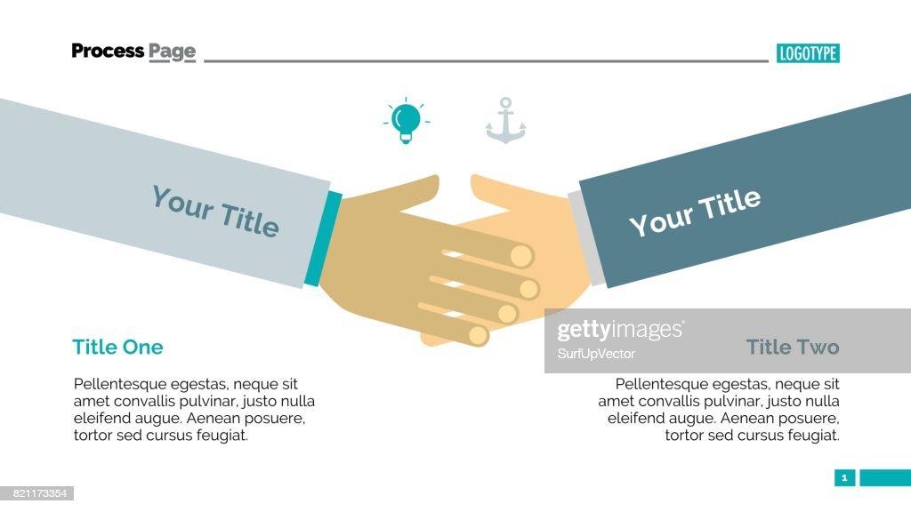 Shaking Hands Diagram Slide Template Vector Art Getty Images