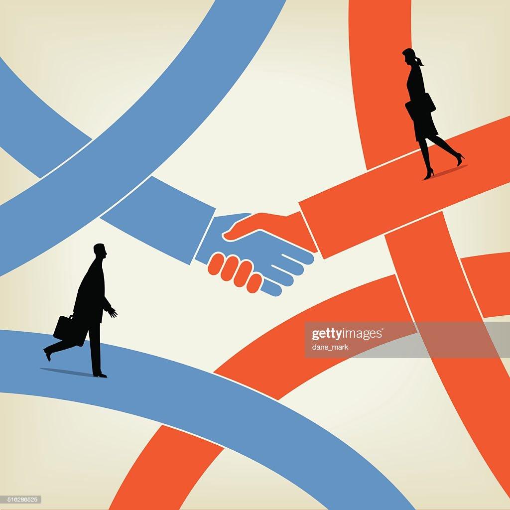 Shaking Hands : stock illustration