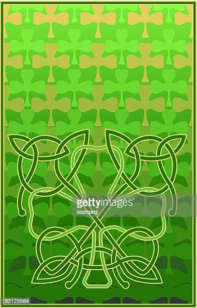 shamrock knot - st. patrick's cathedral manhattan stock illustrations, clip art, cartoons, & icons
