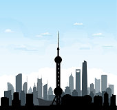 Shanghai Skyline (All Buildings Are Complete and Moveable)