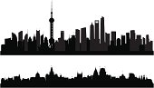 Shanghai Skylines (Buildings Are Detailed, Moveable and Complete)