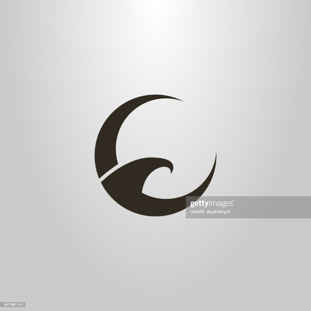 shape of an abstract eagle. round icon. brand icon. logo for the airline