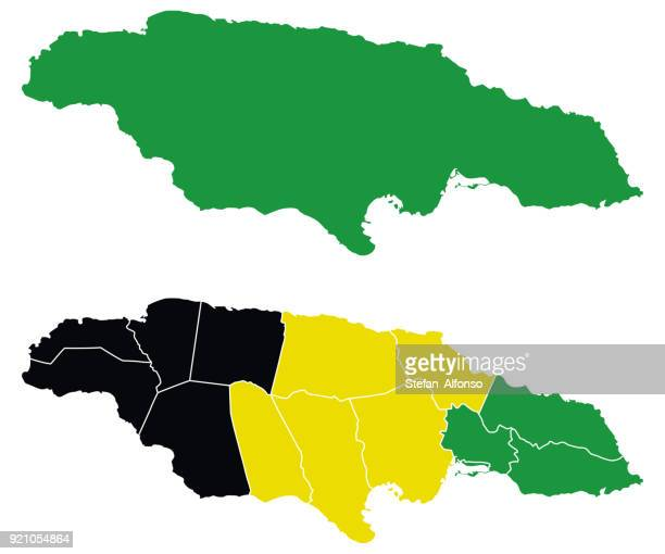 shape of jamaica - jamaica stock illustrations