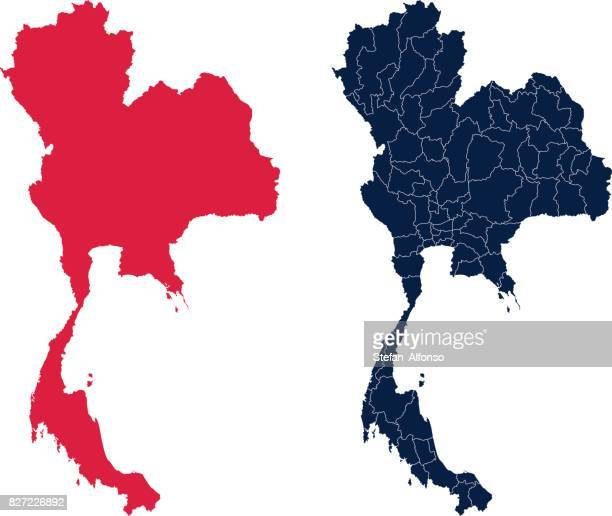 Shape of Thailand and its provinces