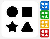 Shape Toys Icon Flat Graphic Design