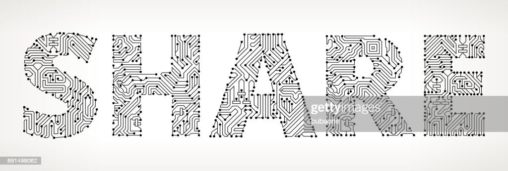 Share Circuit Board Vector Buttons Vector Art | Getty Images