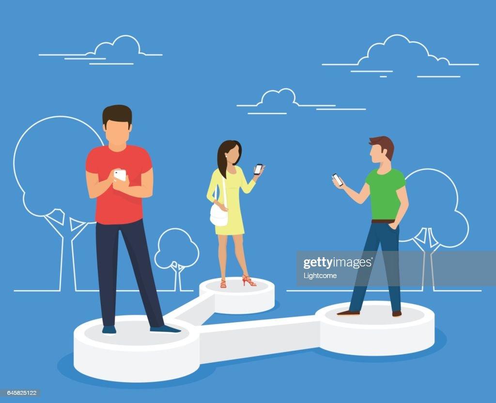 Share data concept illustration