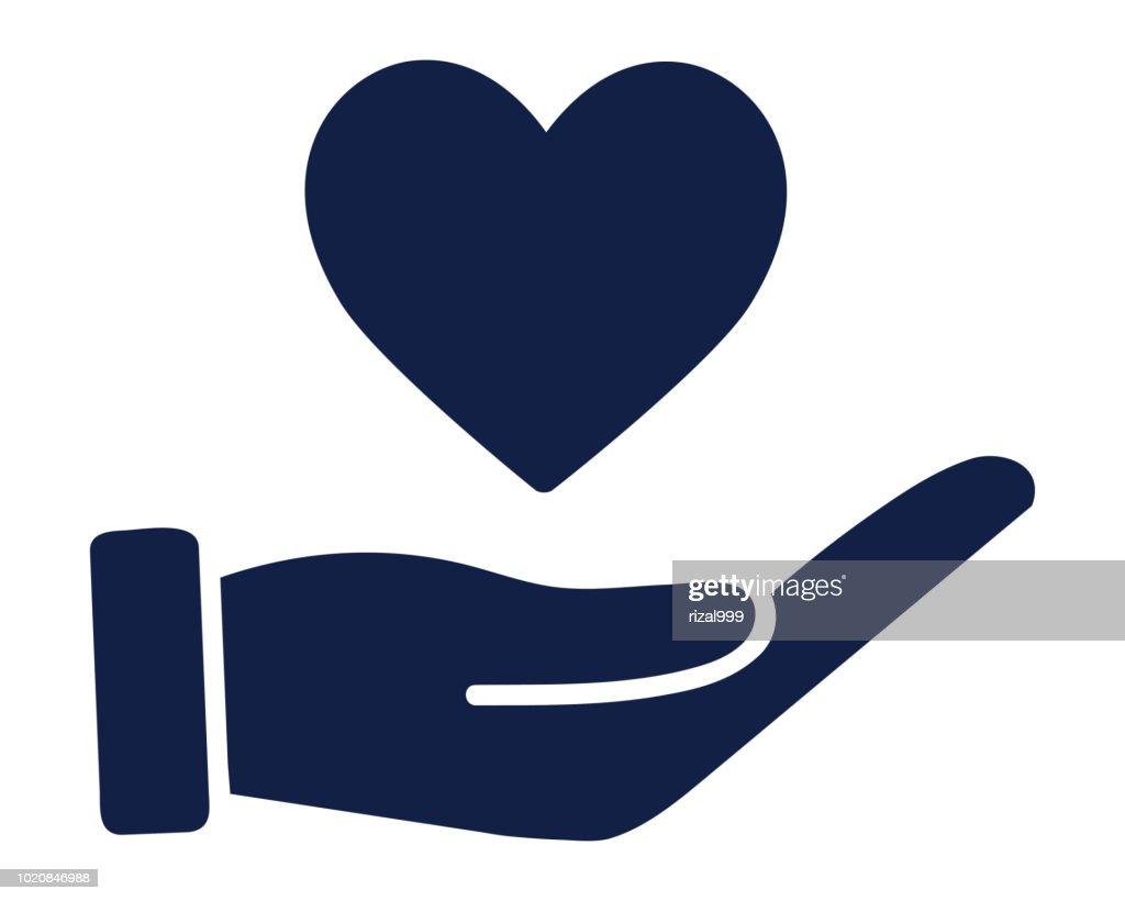 share love glyph icon