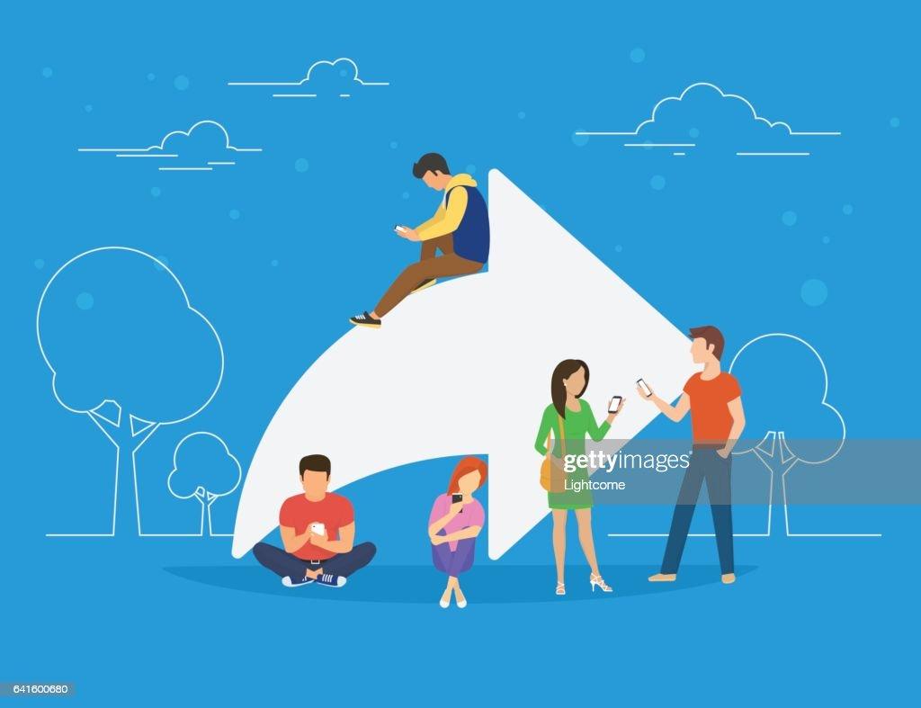 Share symbol concept illustration