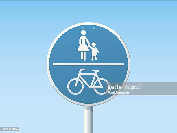 Shared Path German Road Sign Blue