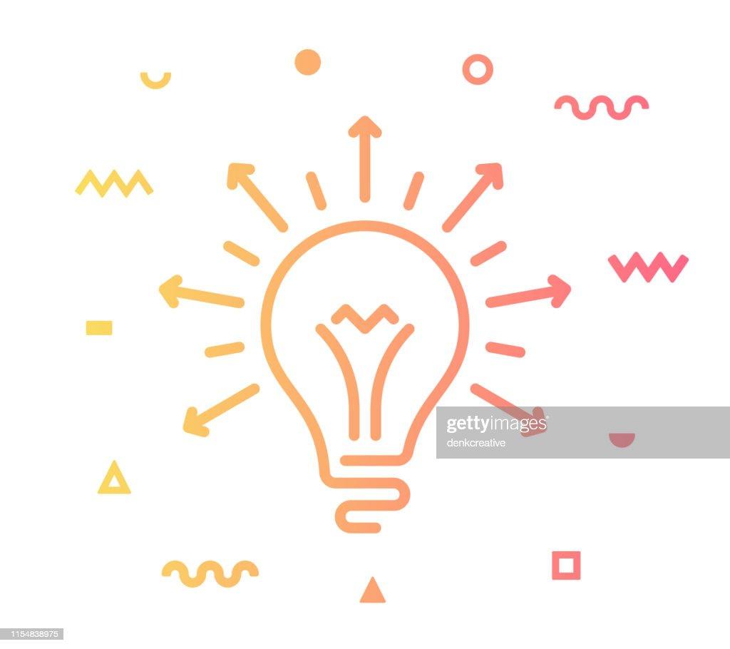 Idées de partage style de ligne icône Design : Illustration