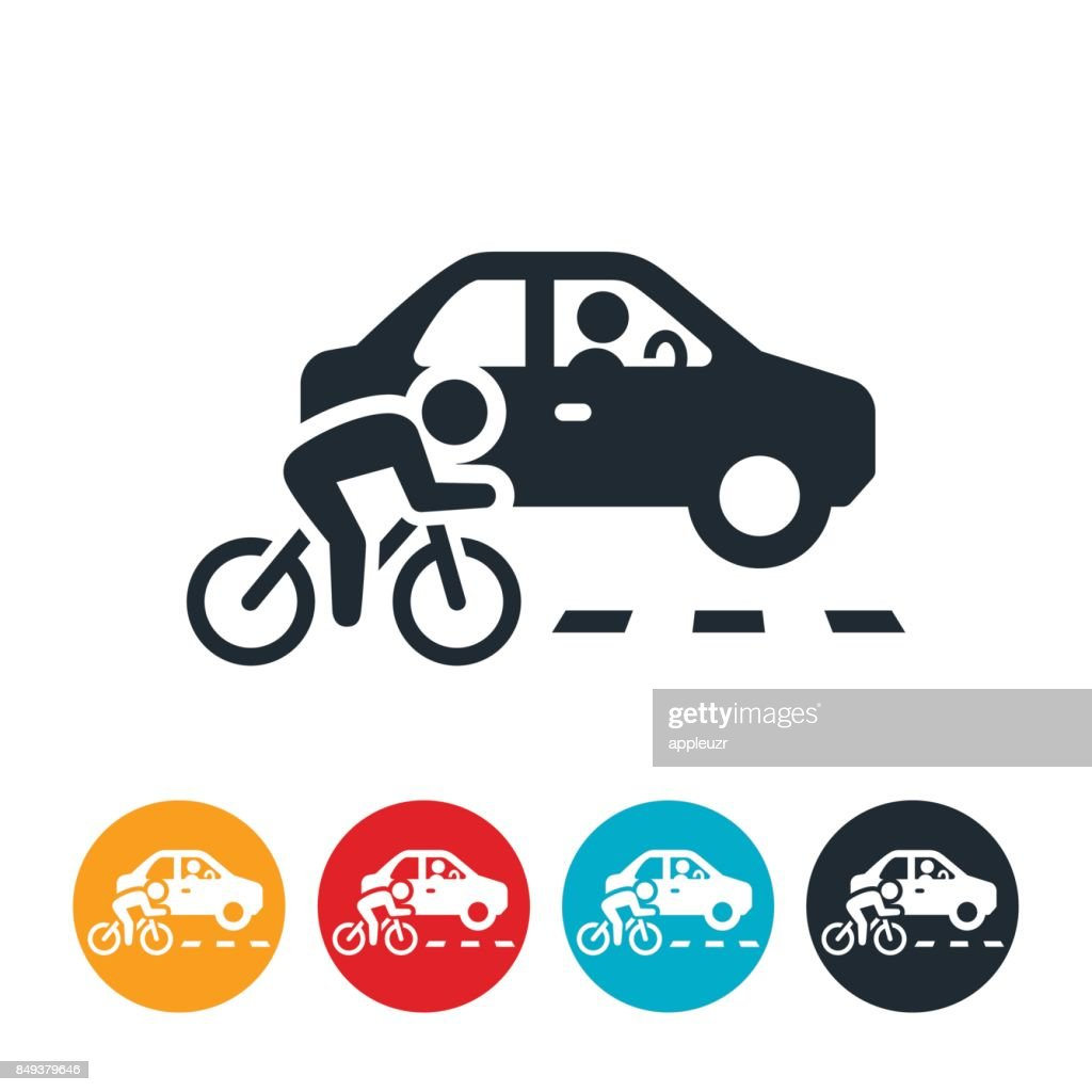 Sharing The Road Icon : stock illustration
