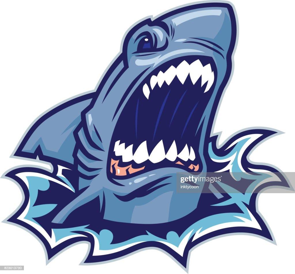 Mordida de tiburón : Ilustración de stock