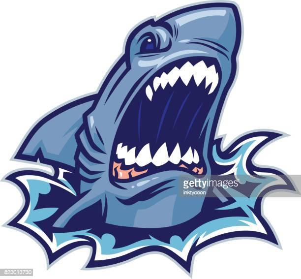 shark bite - great white shark stock illustrations, clip art, cartoons, & icons