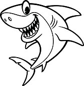 Shark Cartoon Drawing