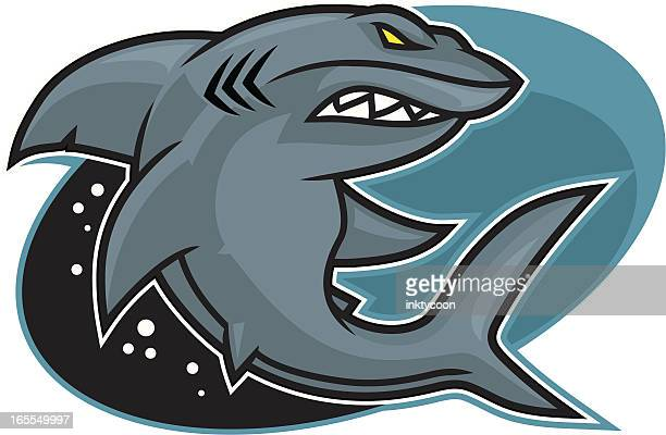 shark design - great white shark stock illustrations, clip art, cartoons, & icons