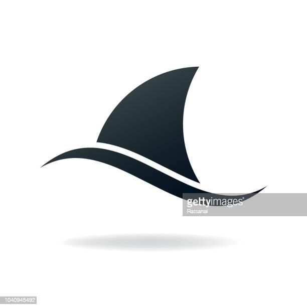 illustrations, cliparts, dessins animés et icônes de aileron de requin - requin