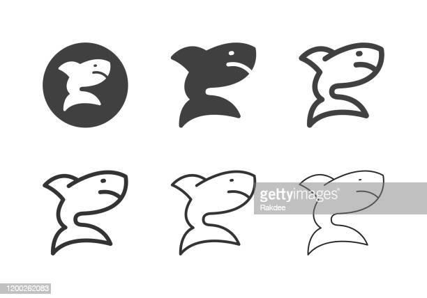 サメのアイコン - マルチシリーズ - ジンベエザメ点のイラスト素材/クリップアート素材/マンガ素材/アイコン素材