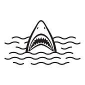 Shark open mouth Ocean Sea vector illustration