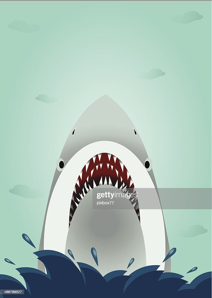 Shark open mouth