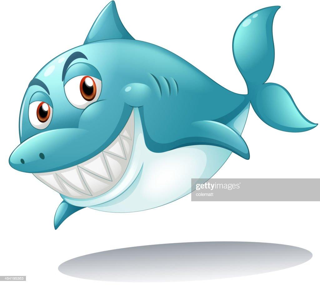 Tubarão sorridente : Arte vetorial