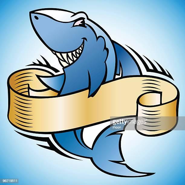 shark - cartoon characters with big teeth stock illustrations
